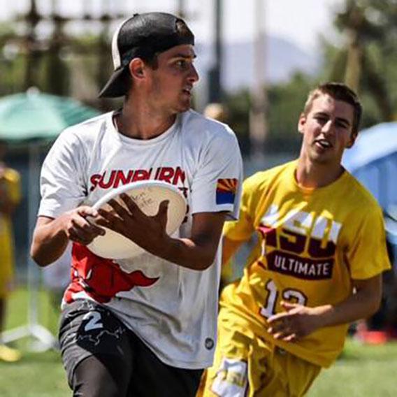 Tom McClintock Playing Frisbee